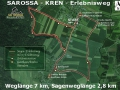 Eine Karte des Sarossa Kren Erlebnisweg