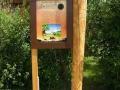 Eine Station des Sarossa Kren Erlebnisweg